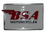 BSA Motorcycles Belt Buckle with display stand - White/Red (LE4)